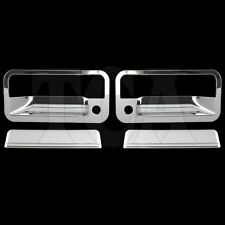 FOR GMC YUKON 1992-1999 CHROME 2 DOOR HANDLE COVERS W/ Key 1995 1996 1997 1998