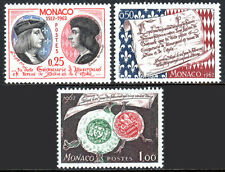Monaco 501-503, MNH. Sovereignty from Louis XII,450th anniv.Lucien Grimaldi,1962