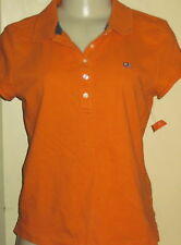 POLO JEANS CO RALPH LAUREN bright ORANGE FITTED POLO SHIRT M cotton short sleeve