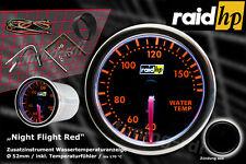 Raid hp Nightflight RED Wassertemperatur Anzeige Zusatz Instrument 52mm Schwarz