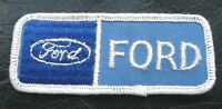 "FORD EMBROIDERED SEW ON ONLY PATCH AUTOMOBILE CAR MUSTANG 3 1/2"" x 1 1/4"""