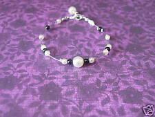 Bracelet noir/blanc  pr robe de Mariée/Mariage/Soirée