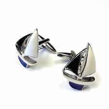 "JustforMoo ""Maritime"" Pair of Sail Boat Cufflinks (197)"