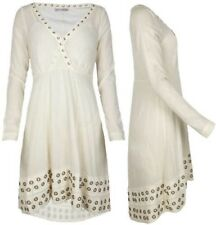 NWT ALL SAINTS Spitalfields Cream Rivited Dress Size 4