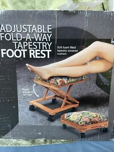 """Adjustable Fold-A-Way Tapestry Foot Rest Adjusts to 14"""""""