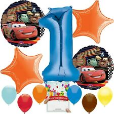 Cars Party Supplies Balloon Decoration Bundle for 1st Birthday