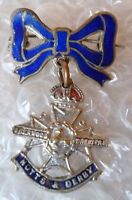 Badge- VINTAGE Notts and Derby Regiment Sweetheart BROOCH Badge (Enamel, Org*)