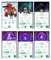Pokemon Account Go Level 34-35 - 30x Legendary - 23x Shiny - Mewtwo - PVP ready