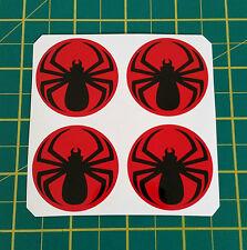 4 x 45mm Alloy Wheel Sticker SPIDER centre cap badge wheel trim