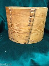Early Primitive Large Wood Pantry Measure w/Wood Pegs & Wood Lacing ~ Handmade