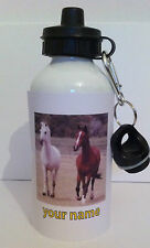 horse water bottle personalised any name girl gift school sport 229
