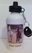 BOTTIGLIA di acqua Cavallo Personalizzato Qualsiasi Nome Ragazza Regalo Scuola Sport 229