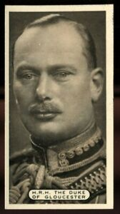 Tobacco Card, Ardath, EMPIRE PERSONALITIES, 1937, HRH Duke of Gloucester, #4
