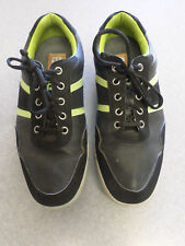 """Footjoy """"Contour Casual"""" black and yellow spikeless golf shoes, Men's 8.5 Wide"""