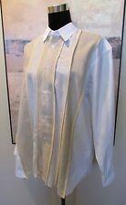 Men's Comme des Garcons Shirt Wool Linen Paneled M/46