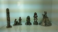 Indian Southwestern Pewter & Copper Statues