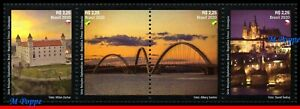 20-07 BRAZIL 2020 RELATIONS CZECH REPUBLIC AND SLOVAKIA, BRIDGES, CASTLES, MNH