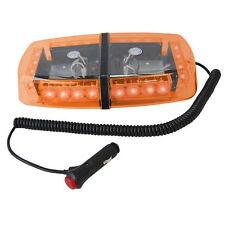 HQRP Barra de luz estroboscópica ámbar de emergencia 24 LED con base magnética