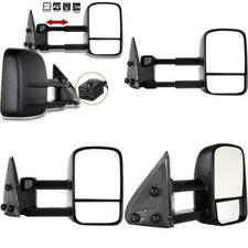 2 NEW Towing View Mirrors Power Heated 2003 2004 2005 2006 CHEVY SUV & TRUCK SET