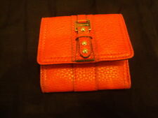Womens Liz Claiborne Wallet  trifold  red Leather  NWOT