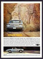 1962 Chevrolet Corvair Monza & Corvette Convertible photo vintage promo print ad