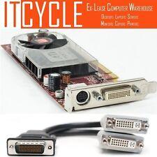 ATI Radeon HD 3400/3450 PCI-E DMS 59 Dual Display Graphics Card + DVI Cable #V2