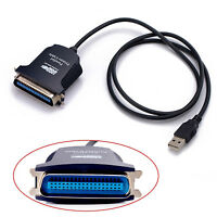 New USB 2.0 to IEEE-1284 36 Pin Parallel Printer Cable Adapter for Windows 7 8