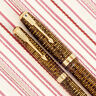 Vintage PARKER VACUMATIC BLUE Diamond 2Jewel Gold-Stripe Fountain Pen Pencil SET