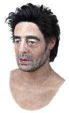 "Silicone Mask ""Benicio del Toro"" Hand Made, Halloween High Quality, Realistic,"