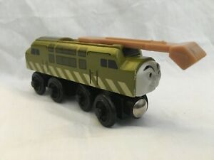 2000 Thomas Train Friends Diesel 10 Wooden Railway Brown Label