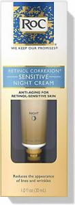 RoC Retinol Correxion SENSITIVE Skin Night Cream 1 oz / 30 mL Fresh, NEW! (UK)