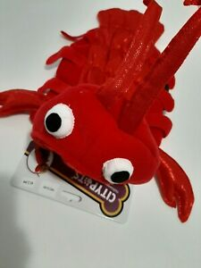 RED LOBSTER HALLOWEEN DOG COSTUME BY CITIPET MEDIUM VELOUR & SHINY CLAWS TAIL