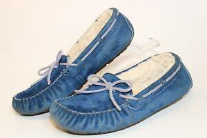 UGG Australia 1001631 Dakota Womens 8 39 Blue Sheepskin Slippers Mocs Shoes