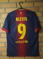 Alexis Sanchez Barcelona Jersey 2012 2013 Home M Shirt Nike Football Soccer