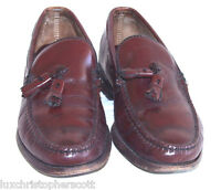 BROOKS BROTHERS Mens Leather Cordovan Tassel Loafers Sz 7.5 C US Shoes