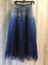 Christian Dior Autumn-Winter Runway 2017-18 Tulle Degrade Skirt Blue Size 40