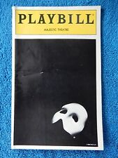 The Phantom Of The Opera - Majestic Theatre Playbill w/Ticket - August 4th, 1993