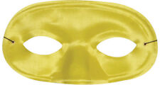 Morris Costumes New Satin Elastic Band Domino Yellow Half Mask. TI60YW