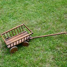 Antiker Kinder Leiterwagen Holz - Schilderns wagon pram wood 42cm