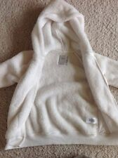 Gymboree off white ivory fur fuzzy soft hoodie hooded top M 7 8 po