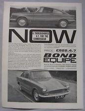 Bond Equipe GT Original advert