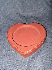 Primitive Style Red Wood Heart Candle Holder Base for Pillar Candles New