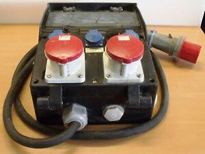 Baustromverteiler Mennekes 2x 63 A 400V + 3x 240V mit Sicherungen (XY 158)