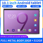 """Android 9.0 10.1"""" 10+512GB Tablet WiFi Full metal 10Core Bluetooth Game GPS"""