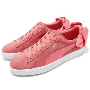 Puma Suede Bow Wns Ribbon Pink White Women Lifestyle Shoes Sneakers 367317-01
