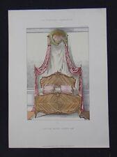 LA TENTURE FRANÇAISE 1904 - Lit de bout Louis XV - ameublement décoration 110
