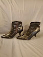 Franco Sarto Black Zip Ankle Boots Bootie Size 6.5 M - Pointed Toe