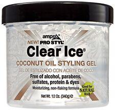 Ampro Pro Styl Clear Ice Coconut Oil Styling Gel 12 oz