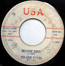ROLAND STONE 45 Moanin' Soul / Lost Love EXOTICA 2 Sider USA 1959 Pop w3846