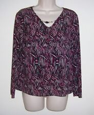 """One 4 U Multi-Colored Pull Over Top W/Beaded Neck L  Bust 40""""  Length 23"""""""